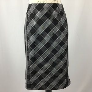 Express Design Studio plaid fishtail skirt